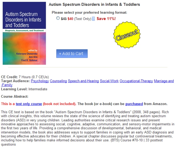 Autism Spectrum Disorders in Infants & Toddlers