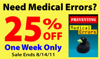 25% Off Medical Errors CE Courses!