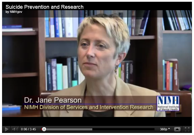 NIMH researcher Dr. Jane Pearson talks about warning signs as well as progress in suicide prevention.