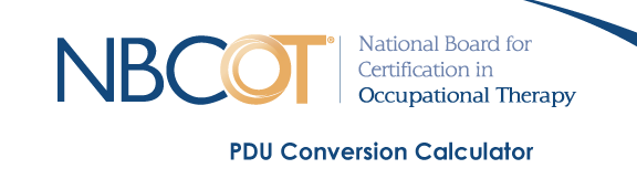 NBCOT PDU Conversion Calculator