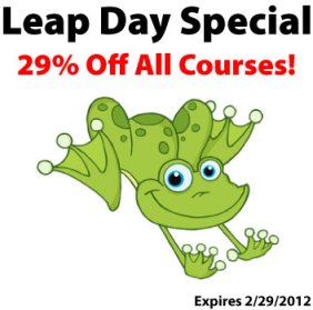Leap Day Sale 29% off Courses