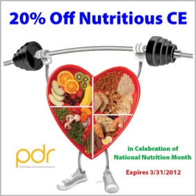 National Nutrition Month CE Promo