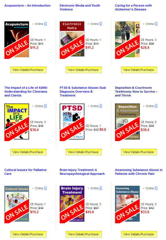 Summer Continuing Education Sale